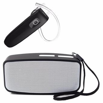 N10 Mini Wireless Bluetooth Speaker with FM Function (Gray) Withfree New Genai Skywalker-B1 Extreme Bluetooth Headset (Black)(pressand Hold for 7secs. to open)