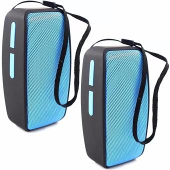 N10 U Mini Bluetooth Speaker with FM Function (Blue) Set Of 2