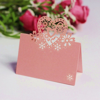 Name Cards Wedding Party Christmas Table Decor 12 Pcs Pink - picture 2
