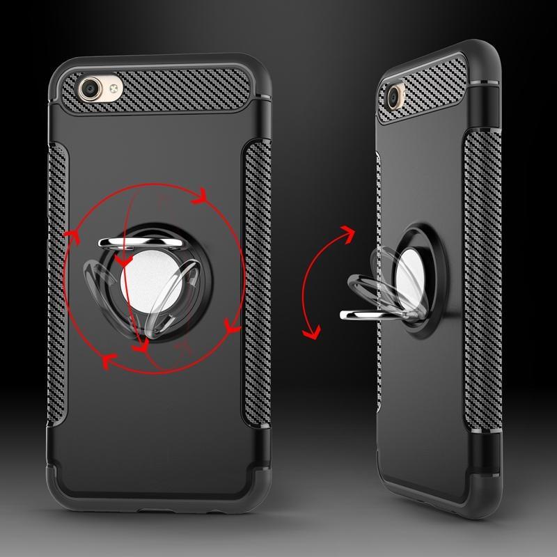 New Arrival For VIVO V5Plus TPU+PC 2in1 Ring Holder Phone Case .