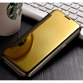 NEW Double View plated mirror holster flip phone case mirror case for SAMSUNG C9 PRO - intl