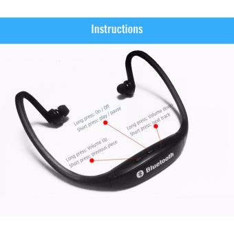 New Generation S9 Sports Wireless Bluetooth Stereo EarphoneHeadphones In-ear Headset Neckband for iPhone 7 Plus/iPhone6SPlus/SE/5S/ for Samsung Android Mobile Phones (Red) with Free LEDWatch - 4
