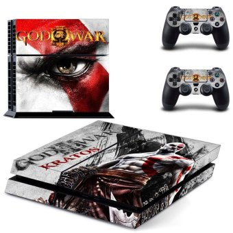 New God of War Kratos Decal PS4 Skin Sticker For Sony Playstation 4 PS4 Console protection film and 2Pcs Controller Protective skins - intl