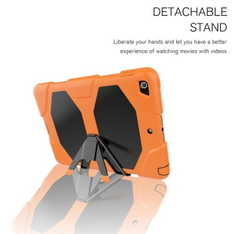 New iPad 9.7 Inch 2017 Case Heavy Duty Shockproof Hybrid ScreenProtector Rugged Rubber Protective Stand Case for Apple iPad 9.72017 5th Generation - intl - 3