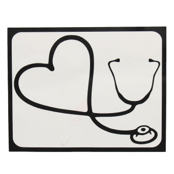 Newest ! 1Pcs Waterproof Laptop Sticker Stethoscope Heart PatternPVC Sticker Decal for MacBook Air 11'13' for Pro Retina 13'15' -intl