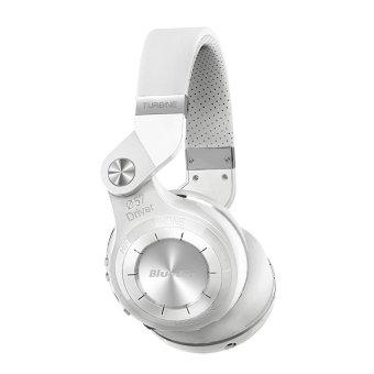Newest Bluedio T2 Multifunction Stereo Bluetooth Headset noise canceling headphone wireless Headphones (White)