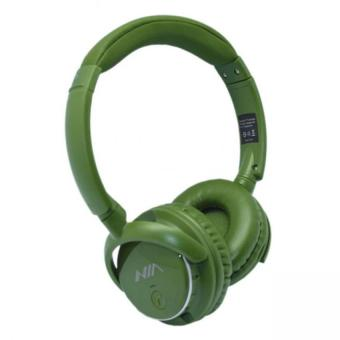 Nia Q1 Bluetooth Headsets with Micro SD and AUX Slot/FM Radio/Call Function (Green)