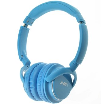 Nia Q1 Bluetooth Headsets with Micro SD and AUX Slot/FM Radio(Light Blue)