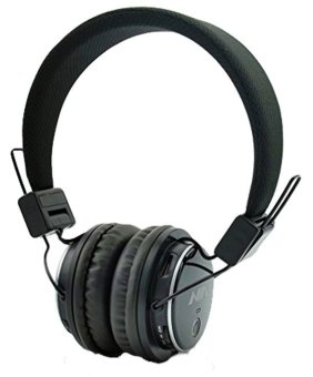 Nia Q8-851s Over-The-Ear Bluetooth Headphones with Call function,FM Radio, AUX/Micro SD Slot (Black)(...)