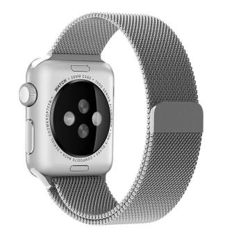 niceEshop Apple Watch Band Magnetic Clasp Mesh Loop MilaneseStainless Steel Replacement Strap For Apple Watch Sport Edition38mm Silver - intl - 2