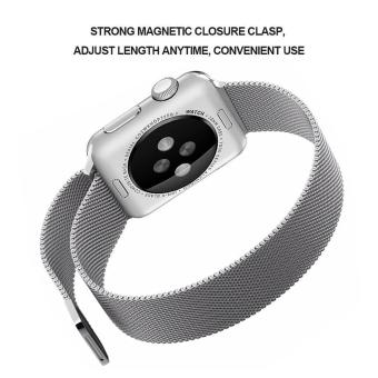 niceEshop Apple Watch Band Magnetic Clasp Mesh Loop MilaneseStainless Steel Replacement Strap For Apple Watch Sport Edition38mm Silver - intl - 5