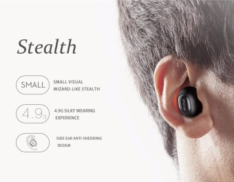 niceEshop Bluetooth Headset, KOBWA Q26 Mini Invisible Earpiece In Ear V4.1 Wireless Bluetooth Car Headset Headphone Earbud Earphone With Microphone Hands Free Calls For IPhone And Android Smart Phones - intl - 2