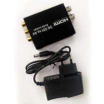 niceEshop SD HD 3G SDI To AV Composite RCA Video + L/R AnalogStereo Audio Video Converter Scaler - intl - 5