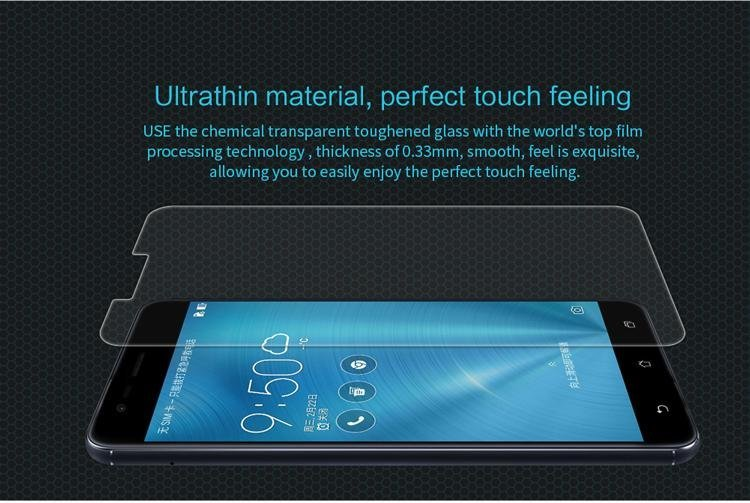 NILLKIN Amazing H Tempered Glass Screen Protector Guard Film Anti-explosion for Asus Zenfone 3