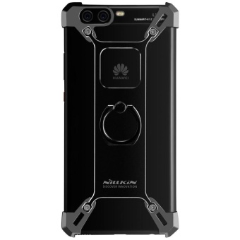 Nillkin Barde Metal Handy Phone Stand Cover Case with Ring ShapeHolder for Huawei P10 Plus with retail package (Black) - intl - 5