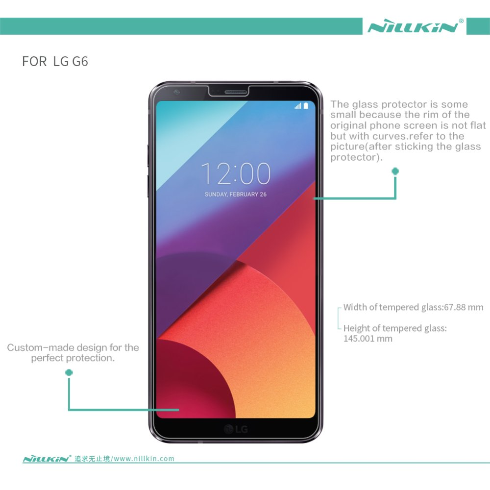 ... Nillkin Glass Film for LG G6 0.2mm screen protector for LG G6 tempered glass film ...