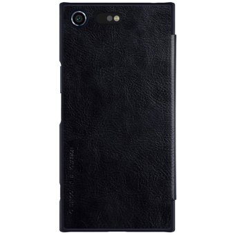 Nillkin Qin Customized Ultra Thin Inside Card Slot Flip Up LeatherCase Protective Shell Cover for Sony Xperia XZ Premium (Black) -intl - 3