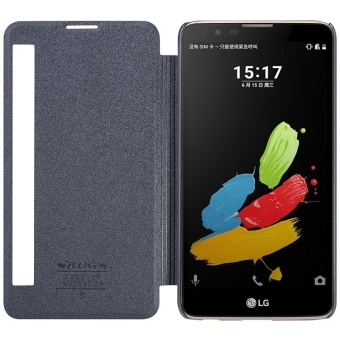 NILLKIN sparkle PU leather flip cover for LG Stylus 2 K520 withretail package (Black) - intl - 2