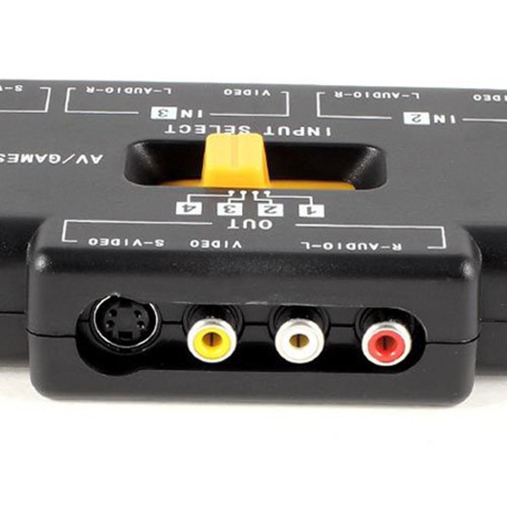 Philippines Ninror 4 Way Audio Video Av Rca Switch Game Selector 2 Box Splitter Black