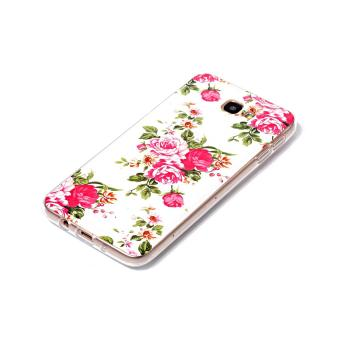 Noctilucent Patterned IMD TPU Case for Samsung Galaxy J7 Prime/On72016 - Blooming Peonies - intl