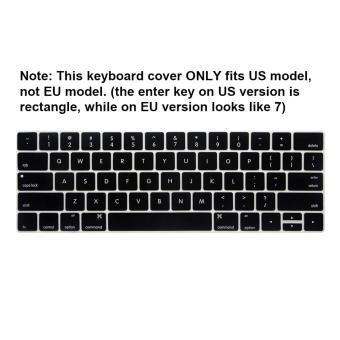 NORTHJO 2 in 1 Rubberized Protective Matte Hard Shell Case andKeyboard Cover for Apple Macbook Pro 13 Inch with / without TouchBar and Touch ID - Model: A1706 and A1708 (Black) - intl - 5