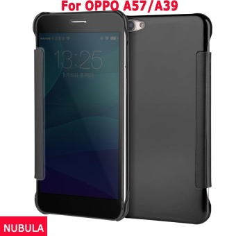 NUBULA New Fashion 360 Degree Luxury Mirror Clamshell Hard ShellFlip Wallet Case For OPPO A57 / OPPO A39,Soft Leather Flip WalletSmart View Mirror Clear View Full Cover Case - intl