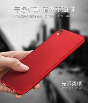 NUBULA Phone Case For OPPO A37 / OPPO Neo 9 360 Degree Real Full Body Ultra-thin Hard Slim PC Protective Case Cover With Tempered Glass - intl - 2