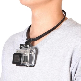 Nvshen Universal Wearable Black/White Neck Hang Holder Hand-freeFor GoPro IPHONE - intl Price Philippines