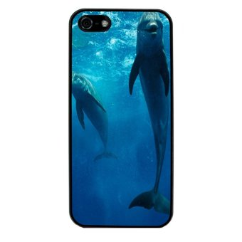 Ocean Seas Pattern Phone Case for iPhone 4/4S (Black)