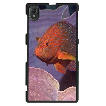 Ocean Seas Pattern Phone Case for Sony Xperia Z1 L39h (Black)