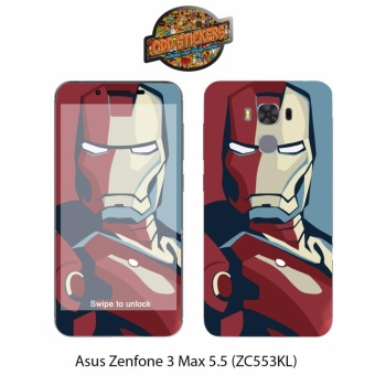 Oddstickers iron man 2 Phone Skin Cover for Asus Zenfone 3 Max 5.5