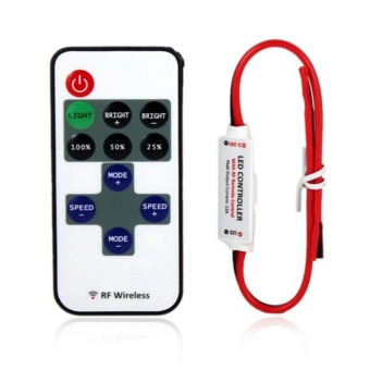 OH 12V RF Wireless Remote Switch Controller Dimmer for Mini LED Strip Light New