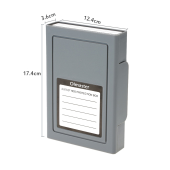 OImaster Shockproof HDD Protector Protection Box Storage Case for 3.5/2.5inch SATA IDE SSD HDD Hard Disk Drive - intl - 3