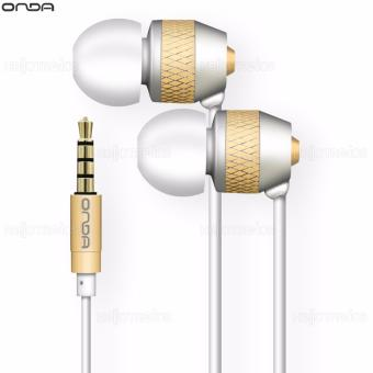 Onda AD30 Earphone Fidelity Comfortable with Earbuds Smooth Sound (White/Gold) - 3