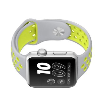 Ontube For Apple Watch Band Nike+ Series 1 Series 2, Soft SiliconeSport Bracelet Replacement Strap for iwatch band M/L Size 42mm -intl - 4