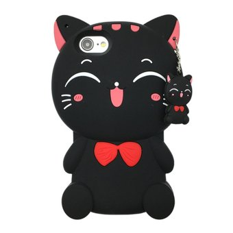 OPPO F3 Case,Lucky Cat Fortune Cat Black & White Kitty With BowSilicone Rubber Phone Case Cover For OPPO F3 /OPPO R9s Case - intl Price Philippines