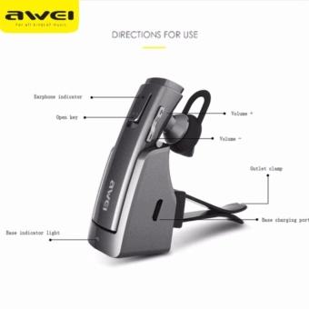 Original AWEI A833BL Smart In-Car Wireless Headset (Black)