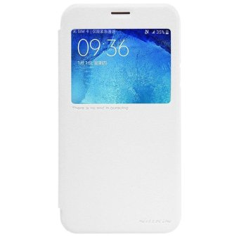 Price Original Flip Cover Case For Samsung Galaxy J7 2015/J700/J700F/J700M Nillkin Sparkle Series PU leather case with smartwindow (White) - intl in ...