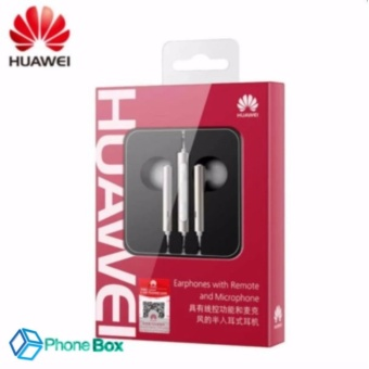 Original Huawei Earphone AM116 In-ear Headset with Microphone 3.5mm Earbuds for PC Huawei P8 Lite P7 Android Phones (silver)