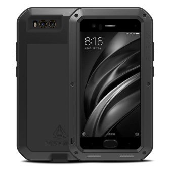 Original LOVE MEI Heavy Duty Aluminum Metal + Gorilla TemperedGlass Shockproof Drop Waterproof Cases Cover for Xiaomi Mi6 Mi6 -intl