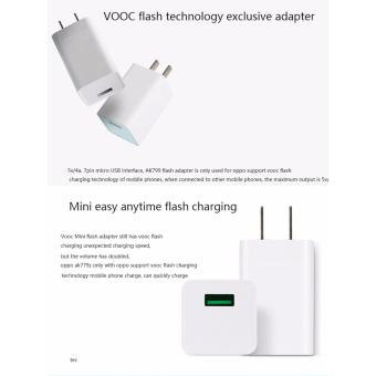 Original OPPO VOOC AK779 5V4A Fast USB Charger 4A Rapid charging Adapter for Find 7 N5 R829 R3 A31 R8007 R7S F3 Plus - 2