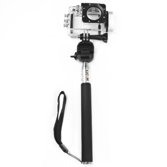 Original SJCAM Foldable Selfie Stick Camera Monopod with Adapter for GoPro Hero 4 / 3+ / 3 / 2 / 1 / SJ4000 / SJ5000 / SJ6000 Action Camera (Black) - intl - 2