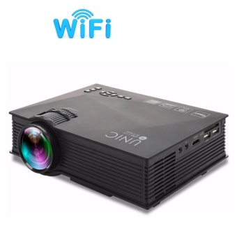 Original UNIC UC46 UC46+ Portable Mini LED Projector 1200 Lumens 1080P WiFi Wireless Miracast DLNA Airplay Home Cinema Video Theater Game Proyector Beamer HDMI/USB/SD/AV/VGA EU - intl