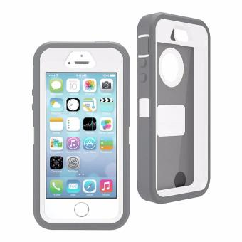 Otter Rugged Case Box Shockproof Silicone/ PC Fall Case Suitablefor Apple iPhone 7 Plus (Grey/White) - 2