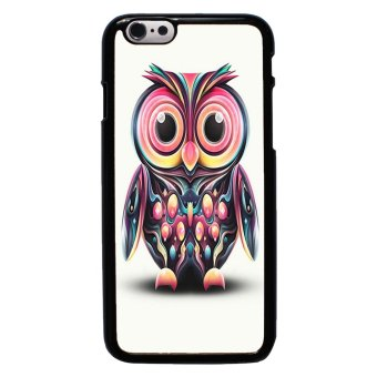 Owl Cute Pattern Phone Case For iPhone 6/6s (Black)