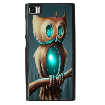 Owl Cute Pattern Phone Case For Xiaomi Mi3 (Black)