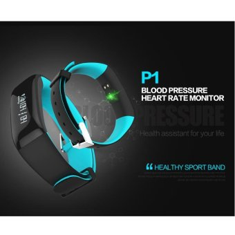 P1 Bluetooth 4.0 Waterproof IP67 Smart Wristband Smartband BloodPressure Monitor Heart Rate Monitor Smart Bracelet Fitness TrackerSmart Band for Android and IOS - Blue - intl - 2