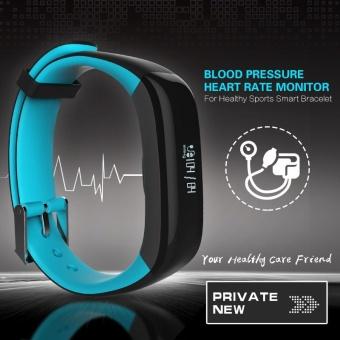 P1 Smartband Blood Pressure Monitor Smart Band Pedometer ActivityTracker Pulse Monitor Wristband Fitness Bracelet for Phone - intl - 3