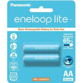 Panasonic eneloop lite BK-3LCCE-2BT AA Rechargeable Battery Pack of 2
