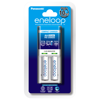 Panasonic K-KJ50MCC20T Battery Charger with Eneloop Rechargeable AAPack of 2 (White) - 3